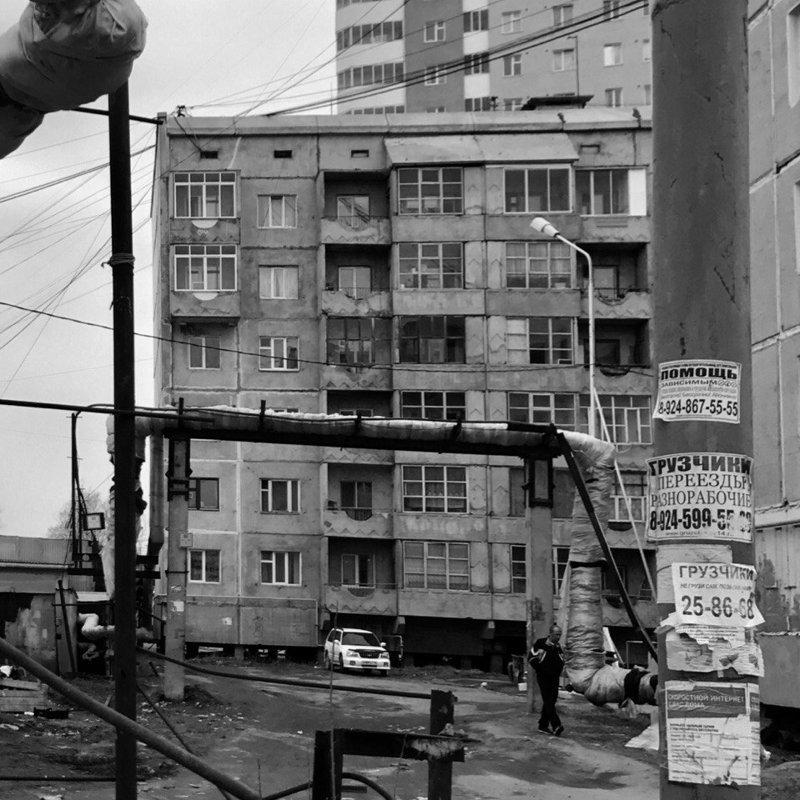 Якутск дома, панельки, советские панельки, фотография, эстетика