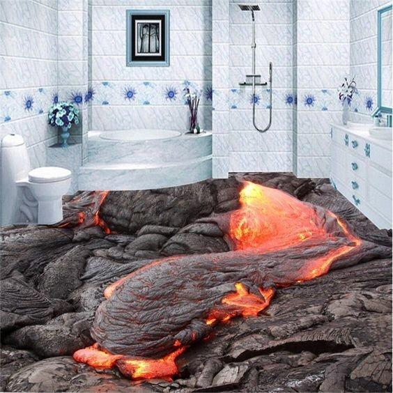 Огненная стихия - красота же Фабрика идей, интересно, креативно, наливные полы, смело, фантазия