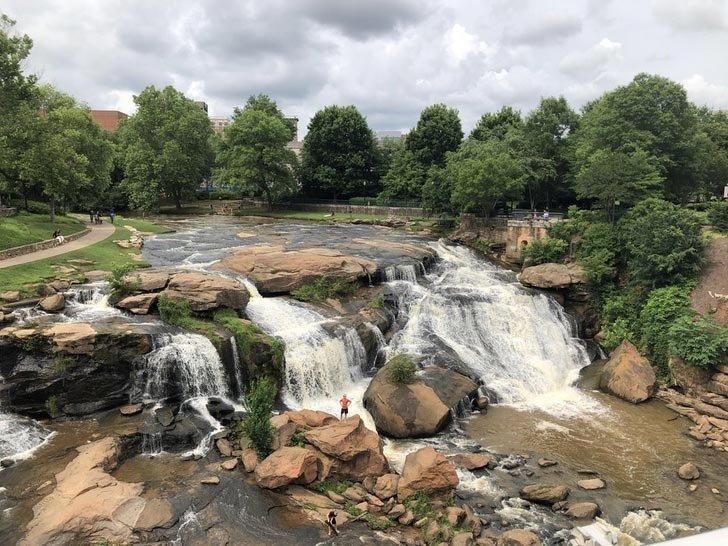 Центр города Гринвилл, Южная Каролина в мире, вещи, красота, люди, природа, удивительно
