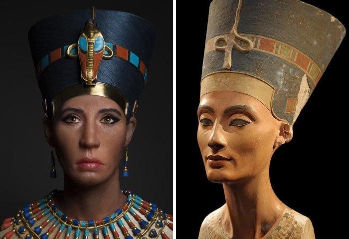 4. Биологическая мать Тутанхамона, предположительно Нефертити воссоздание, известные люди, история, лицо, люди прошлого, облик, реконструкции, реконструкция