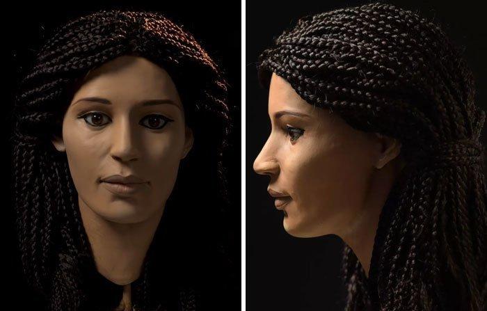6. Меритамон - дочь фараона Рамзеса II, великая царица Древнего Египта воссоздание, известные люди, история, лицо, люди прошлого, облик, реконструкции, реконструкция