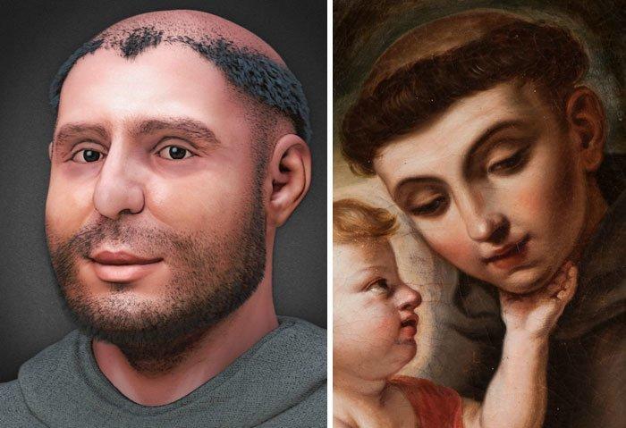 12. Антоний Падуанский, католический святой воссоздание, известные люди, история, лицо, люди прошлого, облик, реконструкции, реконструкция