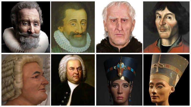 Ученые воссоздают лица людей, живших столетия назад воссоздание, известные люди, история, лицо, люди прошлого, облик, реконструкции, реконструкция
