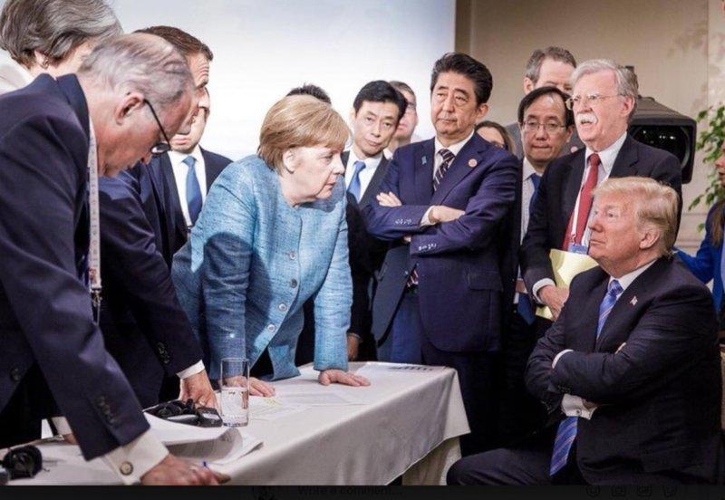 Русский шпион Трамп развалил G7 Трамп, развалил, русский, шпион