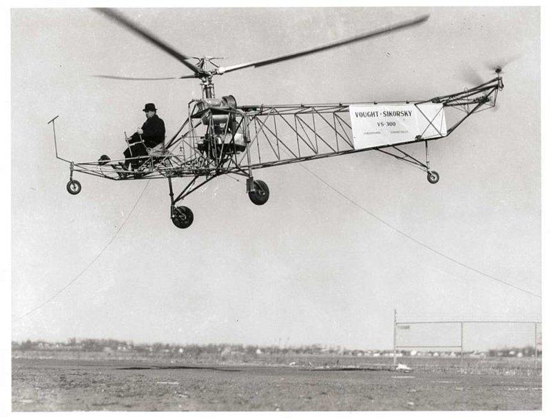 12. Первый вертолет Сикорского 1939 года и одна из новых моделей время, изменения, история, новые разработки, прогресс, сообразительность