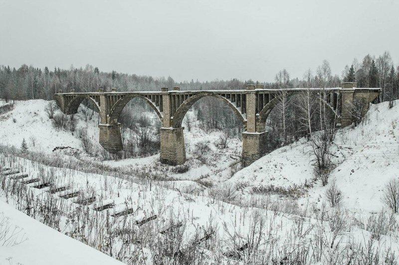 Заброшенный железнодорожный мост, Пермский край заброшенка, заброшенные места, развалины