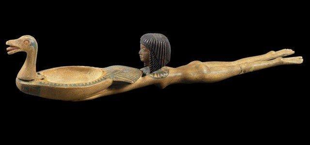 Еще одна деревянная ложечка той эпохи. древний египет, интересно, история