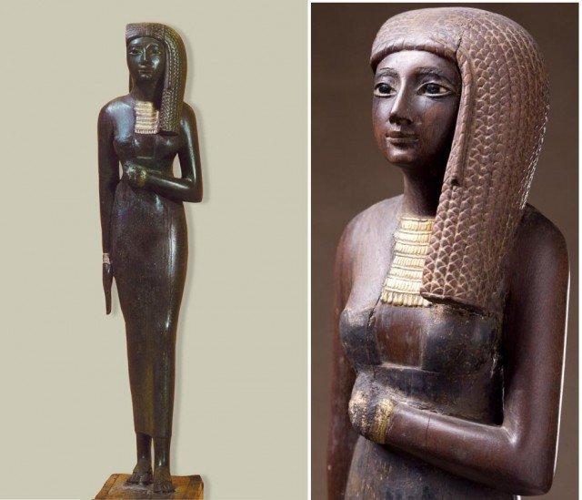 Но нам то с вами куда интересней красота его жены.  древний египет, интересно, история