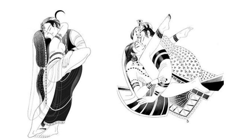 """Выпущена """"Камасутра"""", на иллюстрациях которой женщины получают удовольствие от секса The Folio Society, Victo Ngai, камасутра, книга, руководство, секс"""