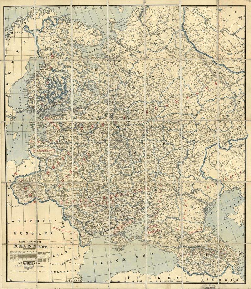 Карта Европейской России, 1918 г. 1918 год, Карты мира, карты, карты 1918 года, карты XX века, сто лет назад