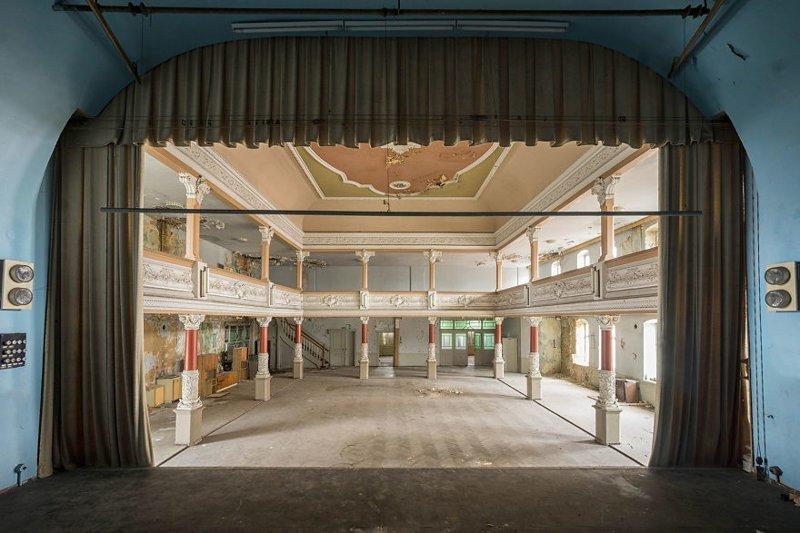 Бальная зала, Германия архитектура, европа, заброшенные здания, изящество, стильные строения, фотографии, фотопутешествие, фотосерия