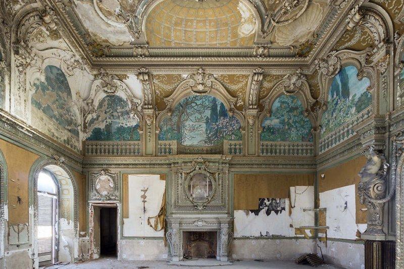 Палаццо в Пьемонте, Италия архитектура, европа, заброшенные здания, изящество, стильные строения, фотографии, фотопутешествие, фотосерия