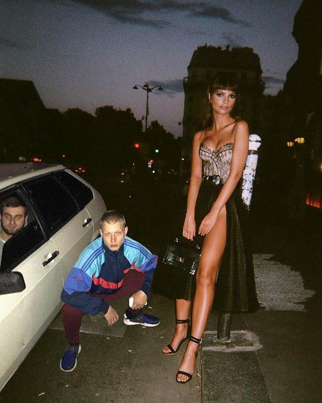 """""""Встретил роднулю"""" Эмили Ратаковски, знаменитость, приколист, смех без правил, соцсети жгут, фотошоп, фотошоп мастер, шутник"""
