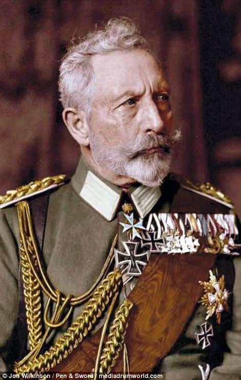 Портрет императора Вильгельма II, ставшего последним германским императором война, история, колоризация, колоризированные фото, первая мировая война, ретро фото, старые фотографии, фото