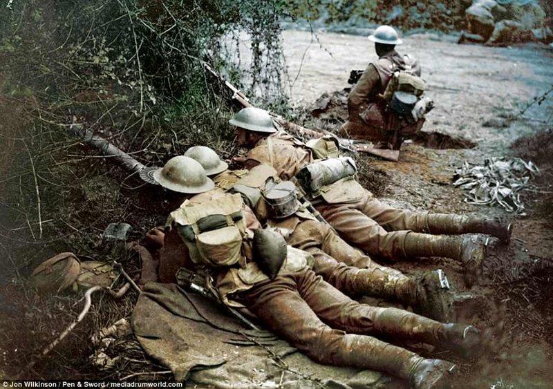 Британские солдаты война, история, колоризация, колоризированные фото, первая мировая война, ретро фото, старые фотографии, фото