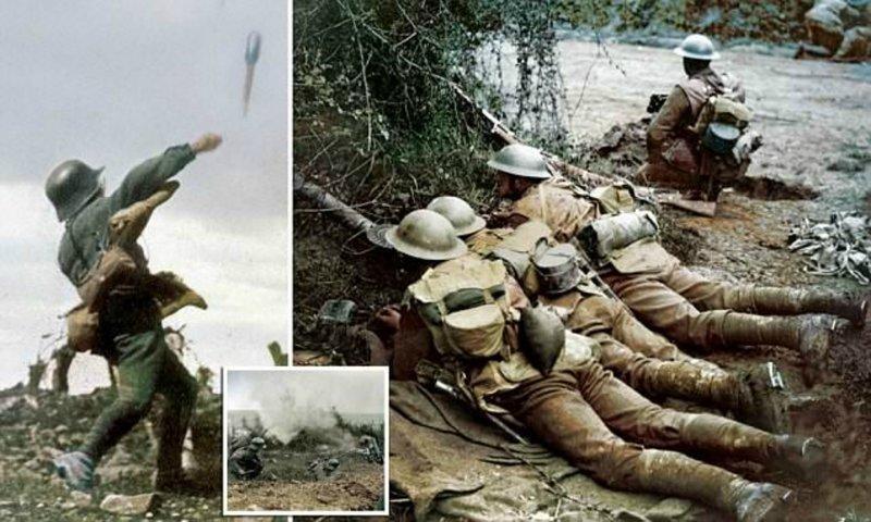 Опубликованы колоризированные снимки, повествующие о событиях Первой мировой война, история, колоризация, колоризированные фото, первая мировая война, ретро фото, старые фотографии, фото