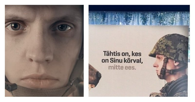Эстонцы выпустили ролик о мощи и силе своей армии. Стра-а-а-шно! ynews, видеоролик, плакаты, пропаганда, угроза России, эстония