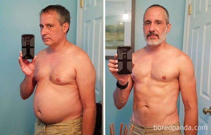 """""""Сбросил 15 кг, и год не пью алкоголь"""" до и после, лишний вес, люди, мотивация, спорт, тогда и сейчас, трансформации, фото"""