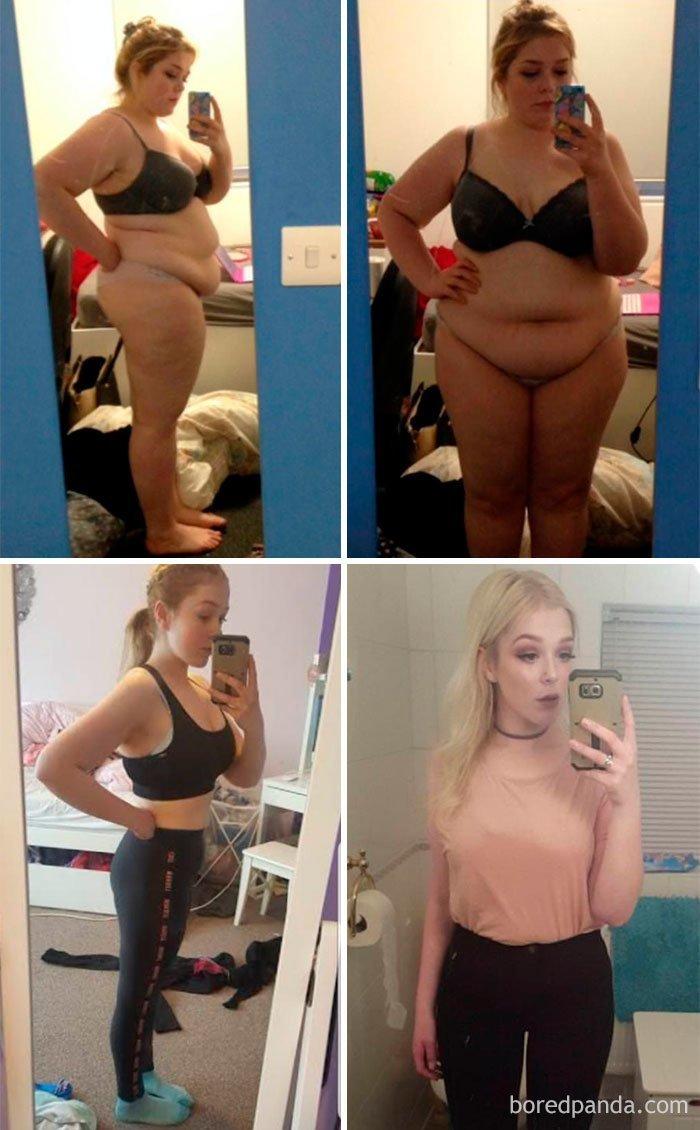 Два года, минус 45 кг до и после, лишний вес, люди, мотивация, спорт, тогда и сейчас, трансформации, фото