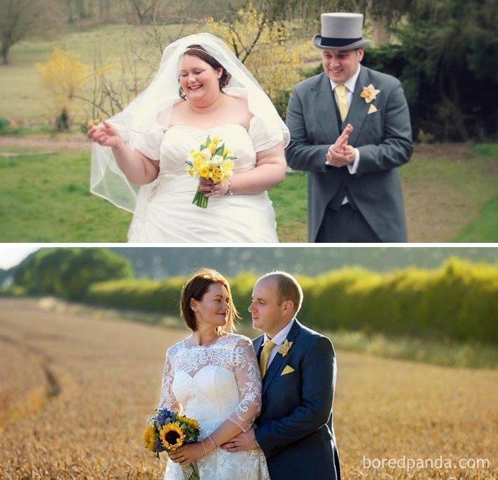 Сломала стереотипы и похудела после свадьбы до и после, лишний вес, люди, мотивация, спорт, тогда и сейчас, трансформации, фото