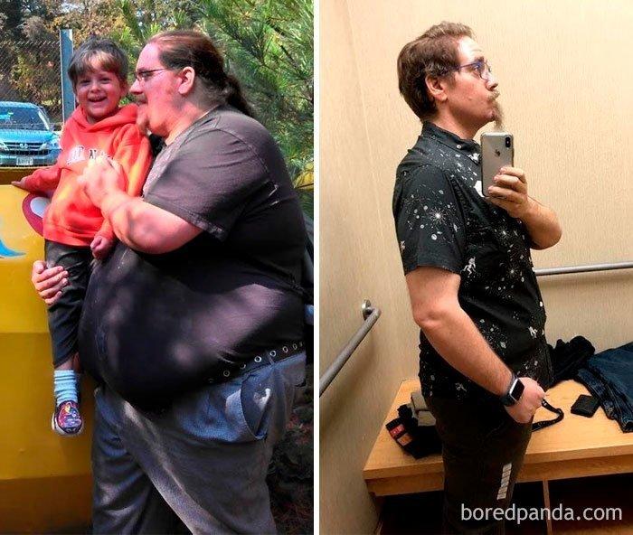 Минус 129 кг за 2,5 года до и после, лишний вес, люди, мотивация, спорт, тогда и сейчас, трансформации, фото