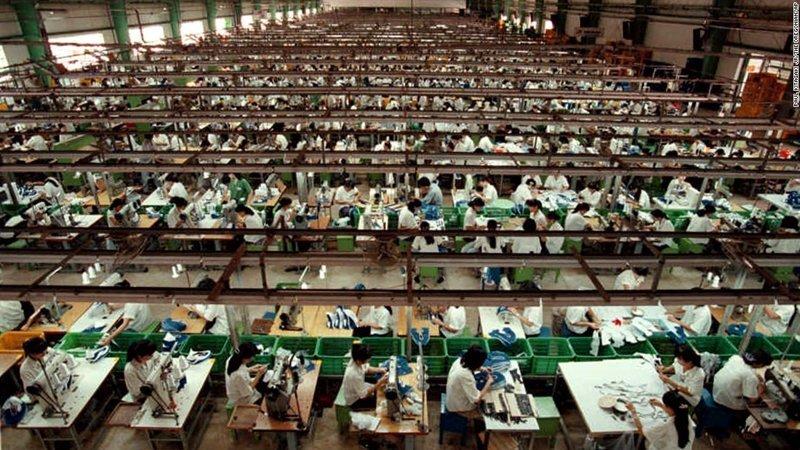 6. Завод Nike в Китае азия, заводы, индия, китай, масштабы, производство, фабрики китая, фото