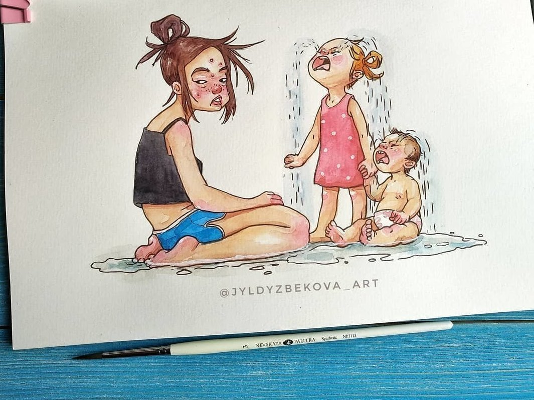 Картинке днем, смешные рисунки про маму и дочку