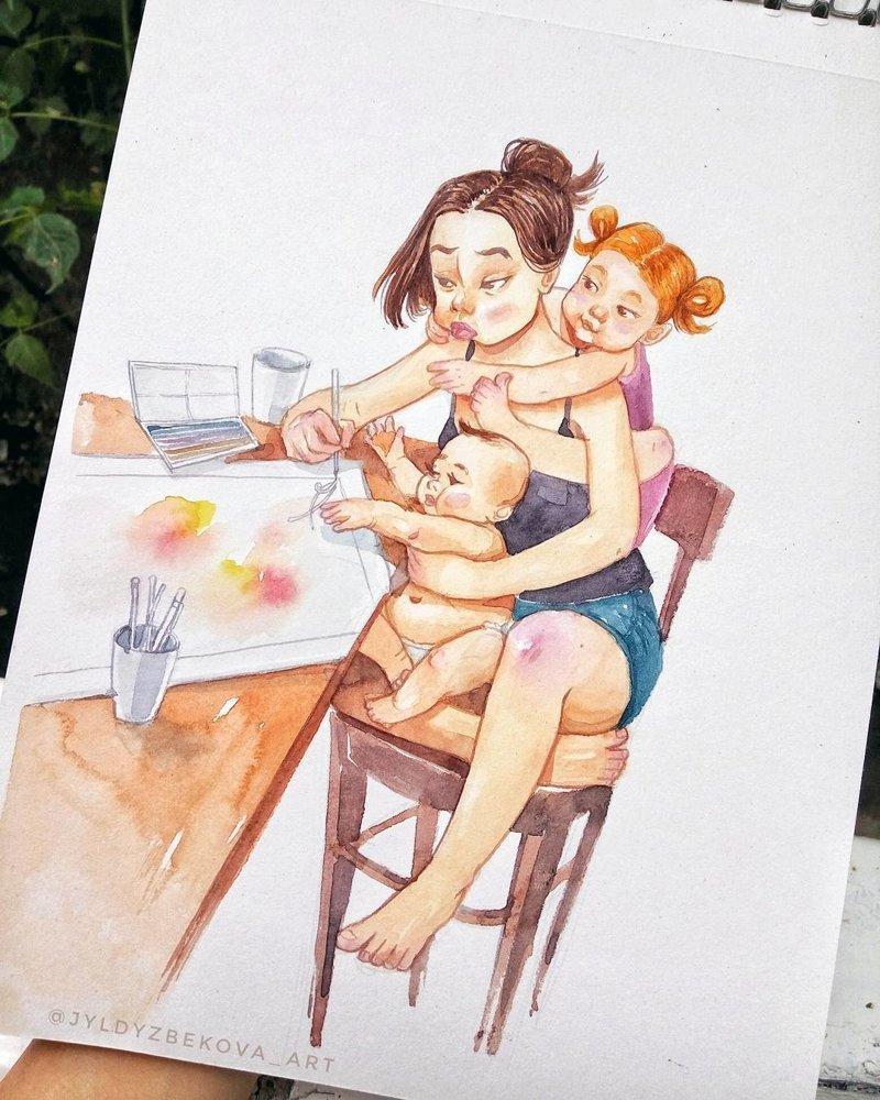 Забавные комиксы о повседневной жизни, которые поймут и прочувствуют только те, у кого есть дети жизнь с детьми, иллюстрации, истории, комиксы, комиксы про детей, мамочки, родители и дети