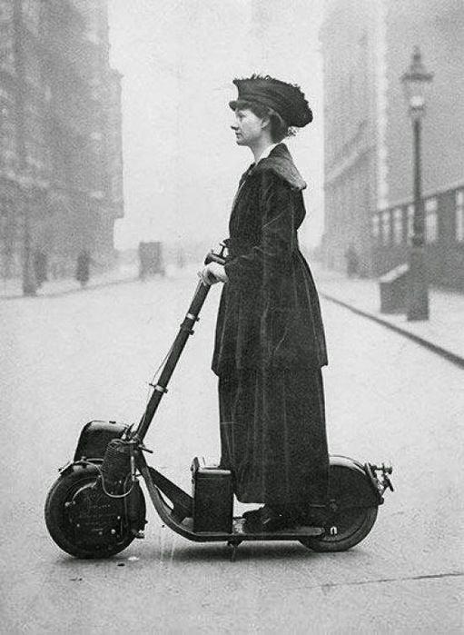 А вот и мопеды, самокаты, мотоциклы и сигвеи изобретения, интересное, коньки, прадедушка, ролики, сигвей, старые фото