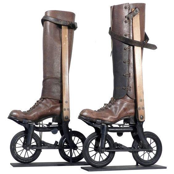 1898 изобретения, интересное, коньки, прадедушка, ролики, сигвей, старые фото