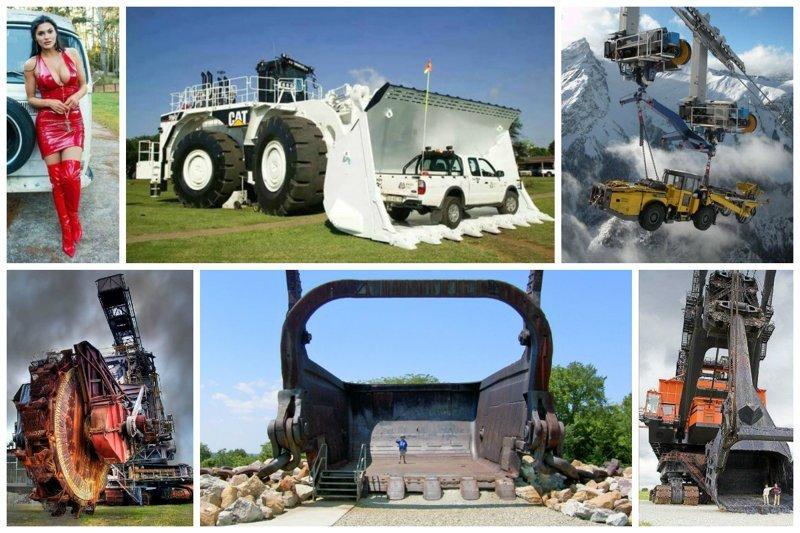 Пацанам на радость - очень мощные и огромные агрегаты  автомир, грузовики, мощная техника. красота, сила