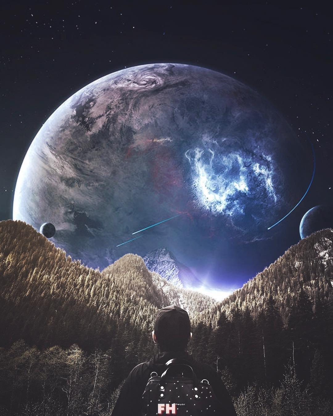 Картинки земля человек космос