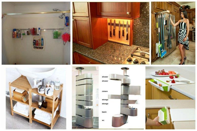 26 фантастических приспособ, которые экономят пространство Фабрика идей, дом, кухня. пространство, приспособления, экономия