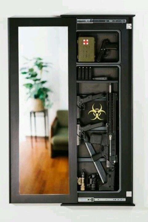 Зеркала интересное, оружейные столы, оружие, тайники