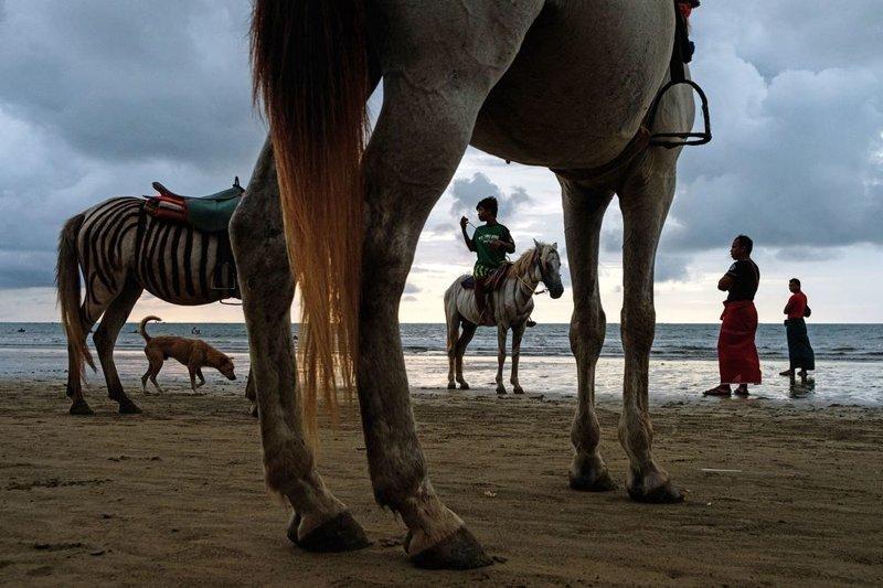 1-е место в категории «Одиночное изображение». Пляжная сцена, Чаунг-Тха, Мьянма. Автор фото: Мацей Дакович LensCulture, в мире, конкурс, люди, уличное фото, фото