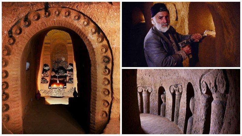 Подземный храм, который строился 23 года с помощью молотка и зубила армения, интересно, мастер, музей, подвал, подземный, подземный дом, туристу на заметку