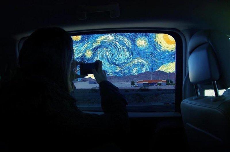 8. живопись, забавно, прошлое в настоящем, прошлое и настоящее, сочетание, фотошоп, художник, цифровое искусство