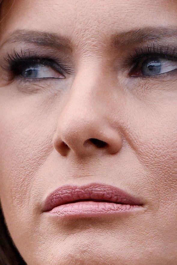 15. Мелания Трамп звёзды, знамениитости, конфуз, макияж, папарацци, пластика