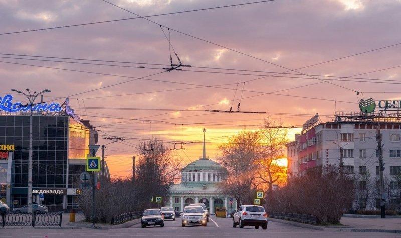Полярный день город, полярный день, природа, солнце, эстетика