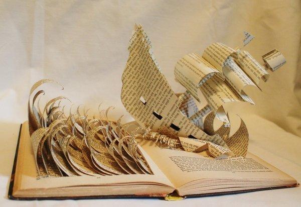 Книги-скульптуры ТОП  рейтинг, книги, необычайное.