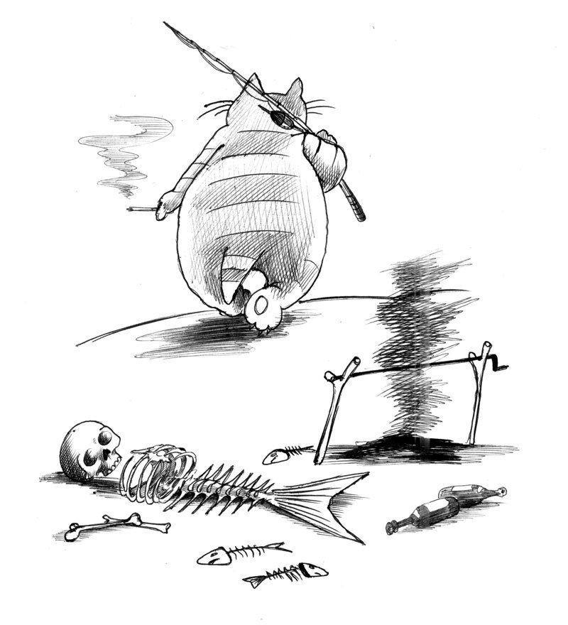 Карикатуры карикатура, черно-белая, юмор