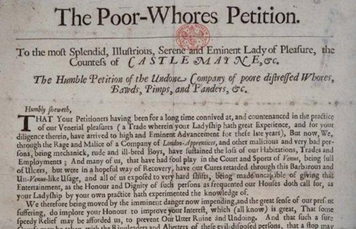 3. Бунты в борделях и петиция путан археология, история, факты