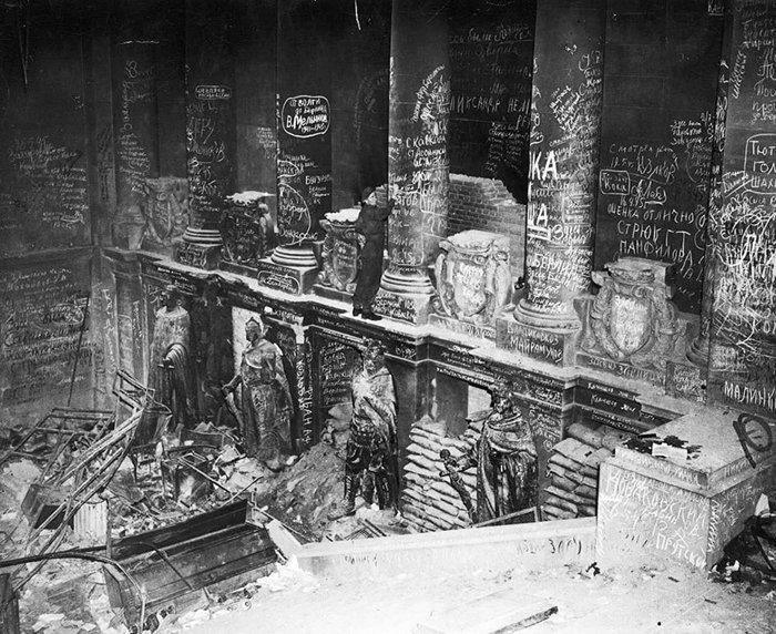 20. Советские войска оставляли надписи на Рейхстаге после взятия Берлина  война, история, память