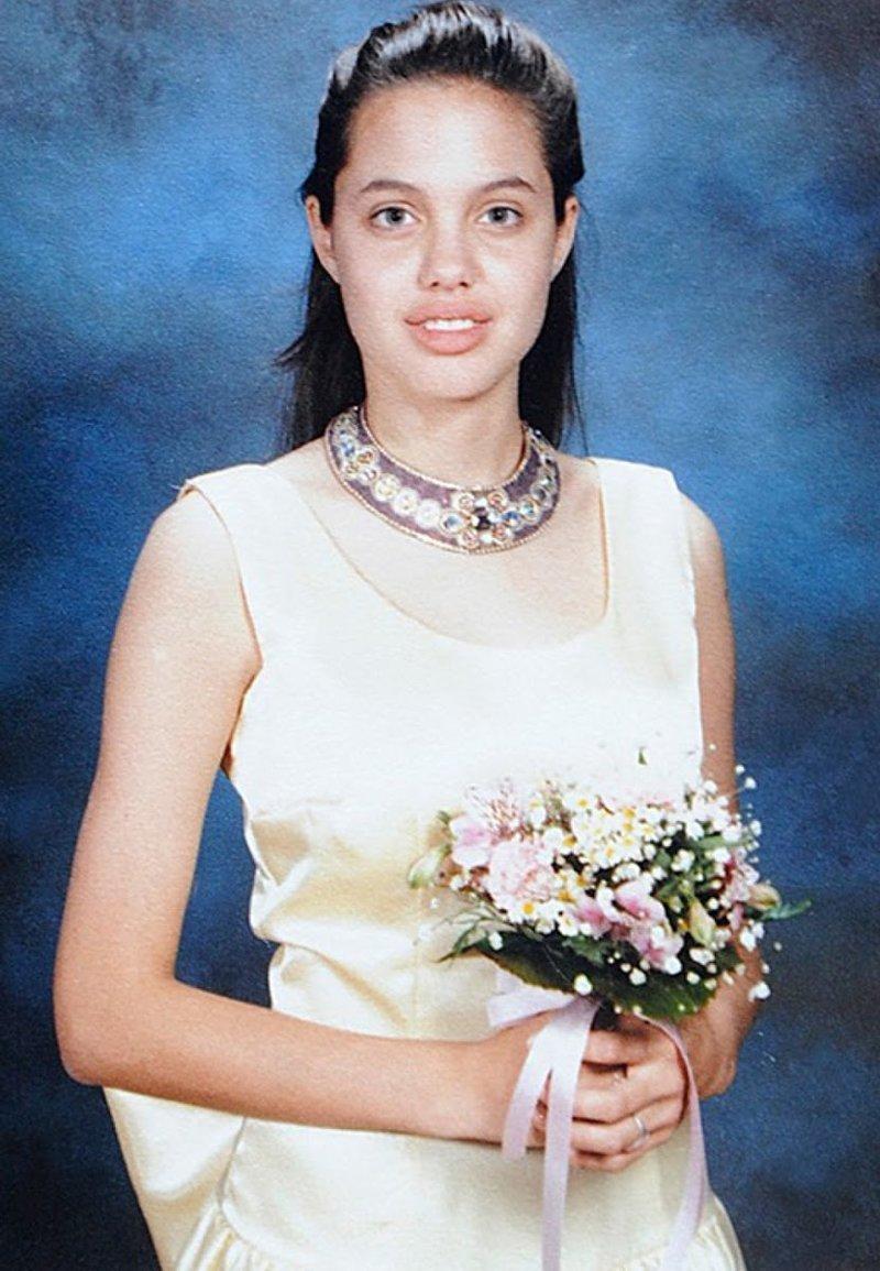 9. Анджелина Джоли Популярность, архивные фото, выпускной, звезды, знаменитости, школа