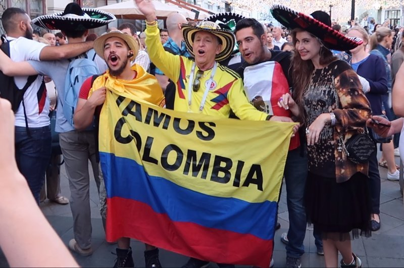 Баманос Коломбиа ЧМ 2018 по футболу, бразилия, девушки, мексика, спорт, футбол, чемпионат мира, чм-2018