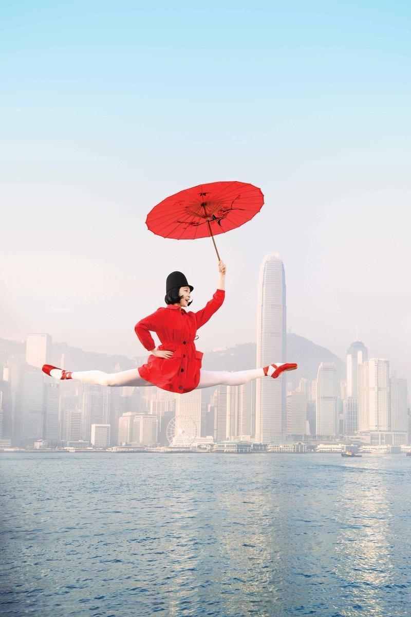 Гавань Виктория балет, гонконг, красиво, реклама, рекламные плакаты, танцоры, танцы, фото