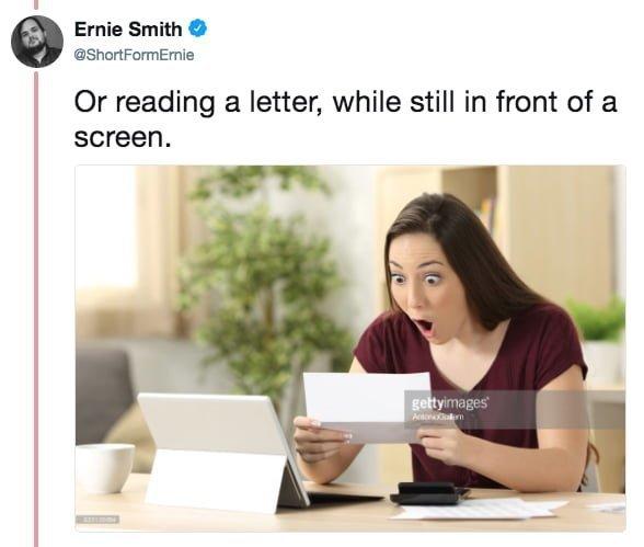 """""""Или при чтении письма - и при этом, как обычно, напротив какого-нибудь экрана"""" meme, выражение лица, забавное, интернет мем, смешное, стоковые фото, шок, шок это по-нашему"""