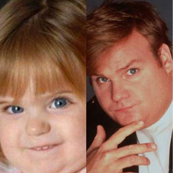 9. А это точно другой малыш, а не фото Криса Фарли в детстве? дети, звезды, знаменитости, копия, похож на, фото