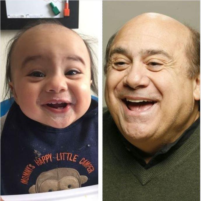 3. Твое лицо, когда ты понял, что похож на одного из самых узнаваемых актеров Голливуда. дети, звезды, знаменитости, копия, похож на, фото