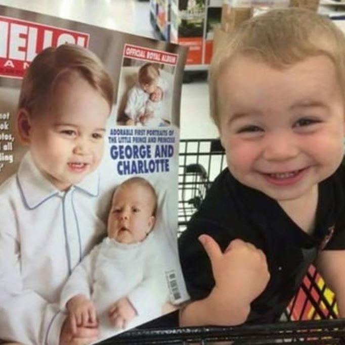 2. Кажется, у принца Джордж в Канаде нашелся потерянный брат-близнец. дети, звезды, знаменитости, копия, похож на, фото